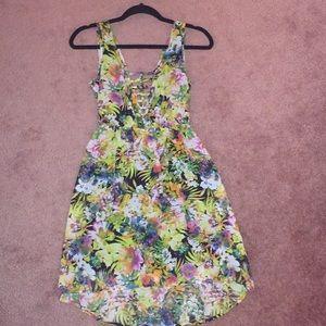 Floral Spring backless Dress